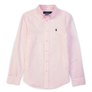 Ralph Lauren long sleeve pink striped shirt 12